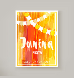 Junina festa flyer vector
