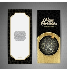 Luxury card with christmas ball vector