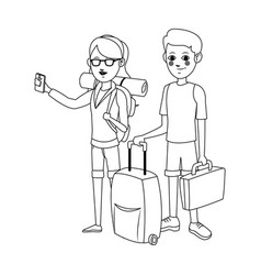 People traveling design vector