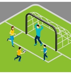 Playing football vector