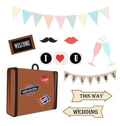 Props wedding vintage vector
