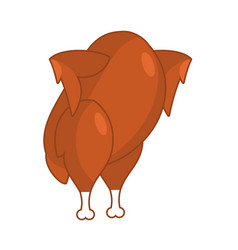 roasted turkey on hind legs baked chicken fowl vector image