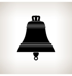 Silhouette bell on a light background vector