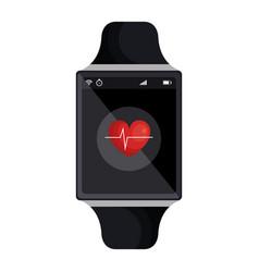 Smartwatch with cardio app vector