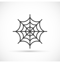 Spider web icon vector