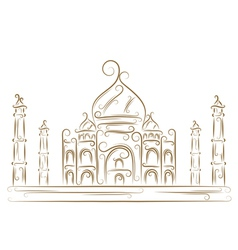 Taj mahal sketch vector