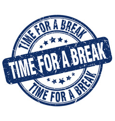 Time for a break stamp vector