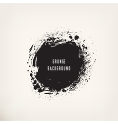 Grunge black ink circle vector image