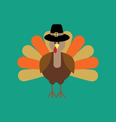Thankgiving day turkey vector image