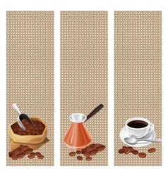 Banners with the turk bag and cup of coffee vector image