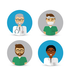 Hospital doctors icon image vector