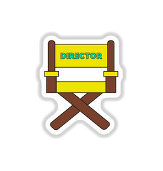 In paper sticker style movie vector