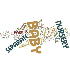 Your baby nursery text background word cloud vector