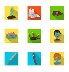 Apocalypse rotten woman and other web icon in vector