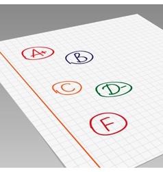 School grades vector