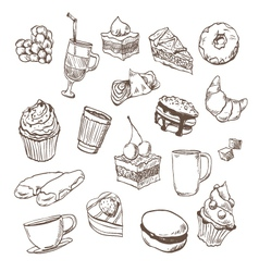 Confection drawing vector