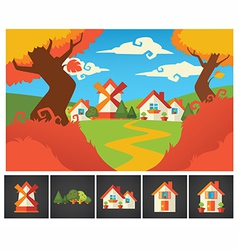 lovely landscape vector image