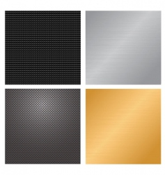 Metallic backgrounds vector