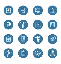 Medical  health care icons set flat design vector