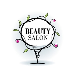 Logo beauty salon vector
