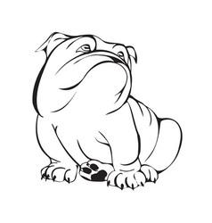 dreamy bulldog vector image