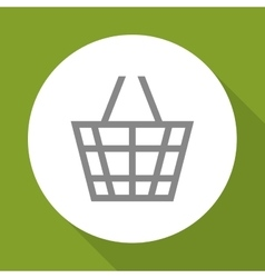 Shopping basket icon design vector