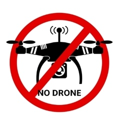 No drone black and white icon vector