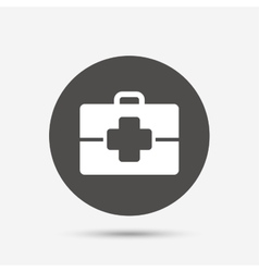 Medical case sign icon doctor symbol vector