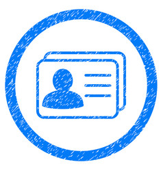 Account cards rounded grainy icon vector