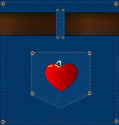 Background belt and pocket vector