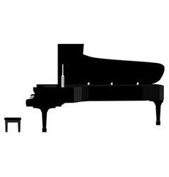 Black grand piano vector image vector image