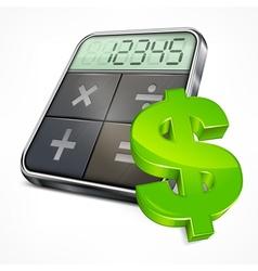 Calculator dollar symbol vector
