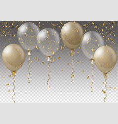 Celebration background template with balloons vector