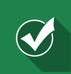 check list button icon check mark in round sign vector image