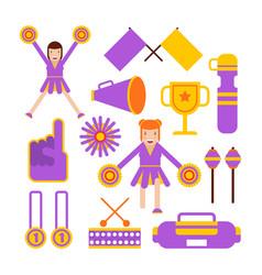 Cheerleaders girls team and sport club vector
