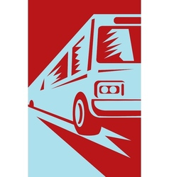 Coach shuttle tourist bus vector
