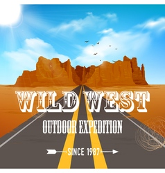 Desert Poster vector image