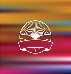 Embleme on blurred background vector image
