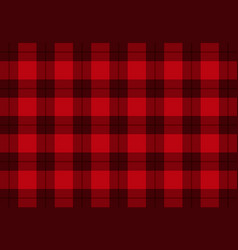 fabric in red color tartan pattern vector image