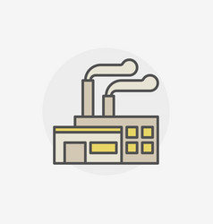 Factory building colored icon vector