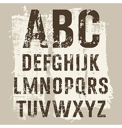 Grunge Letters set vector image vector image