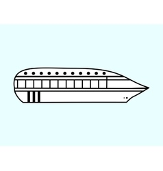 High speed passenger water white vehicle vector image vector image