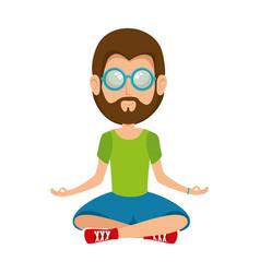 Hippie man cartoon vector