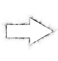 Ink blots arrow vector