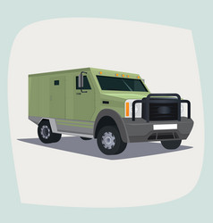 isolated armored collector car vector image