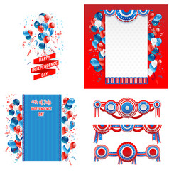 July fourth design elements vector