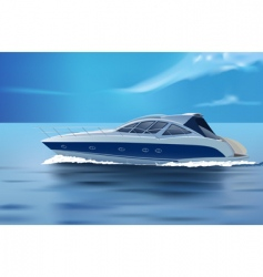 luxury boat vector image