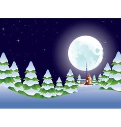 Night Winter Landscape2 vector image vector image