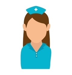 nurse character isolated icon vector image