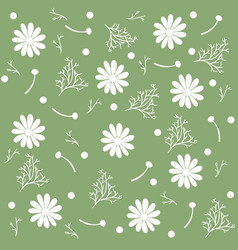 seamless pattern of chamomile flowers and vector image